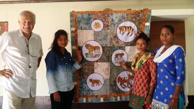 Bardiya Tiger quilt